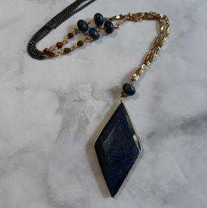 Nakamol Lapis long necklace